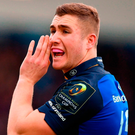 Leinster's Jordan Larmour. Photo by Stephen McCarthy/Sportsfile