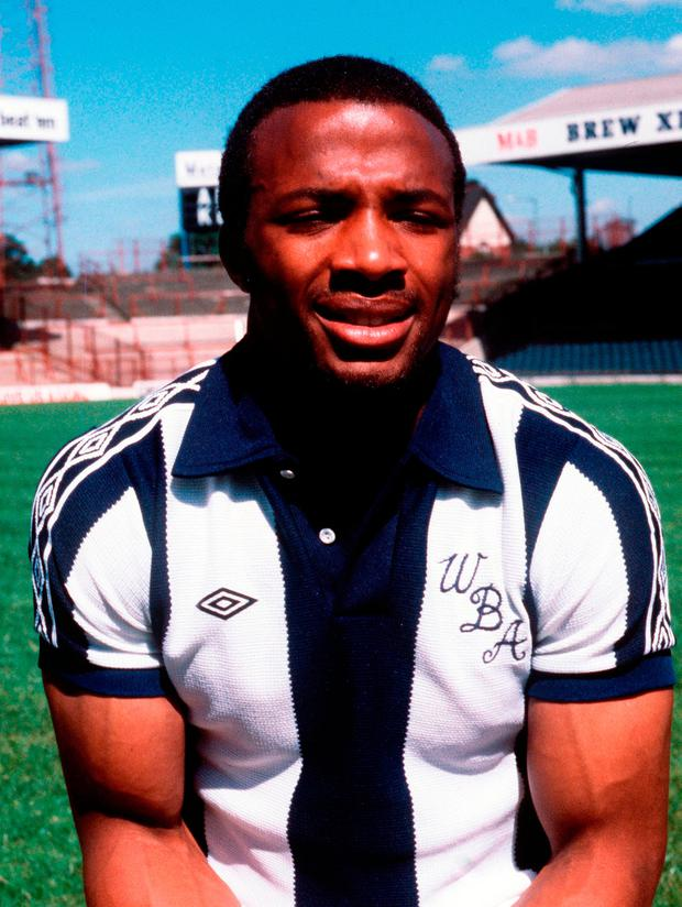 HAWTHORNS HERO: Cyrille Regis, pictured in 1978 in his West Bromwich Albion kit