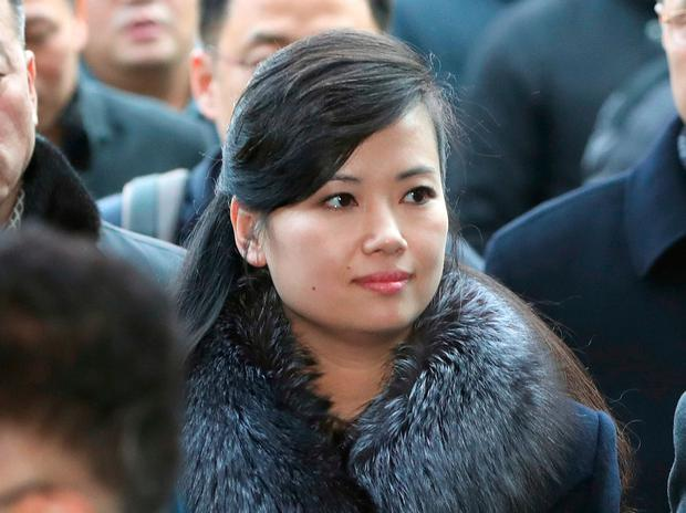 North Korean Hyon Song Wol, head of North Korea'sart troupe, arrives at the Seoul Train Station in Seoul, South Korea, Sunday, Jan. 21, 2018. (Korea Pool via AP)