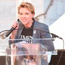 Scarlett Johansson attends Women's March Los Angeles 2018 on January 20, 2018 in Los Angeles, California. (Photo by Presley Ann/Getty Images)