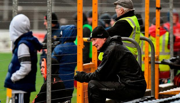 Kilkenny manager Brian Cody watches from the stand during the Bord na Mona Walsh Cup Final match between Kilkenny and Wexford at Nowlan Park in Kilkenny. Photo by Matt Browne/Sportsfile