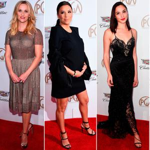 (L to R) Reese Witherspoon, Eva Longoria, Gal Gadot and Tracee Ellis Ross