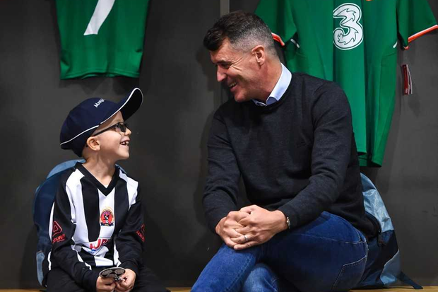 Make-A-Wish granted Tomás Ó'Sé (age 7) from Midleton, Cork who is living with rhabdomyosarcoma (a type of cancer) his wish to meet his hero, Roy Keane.
