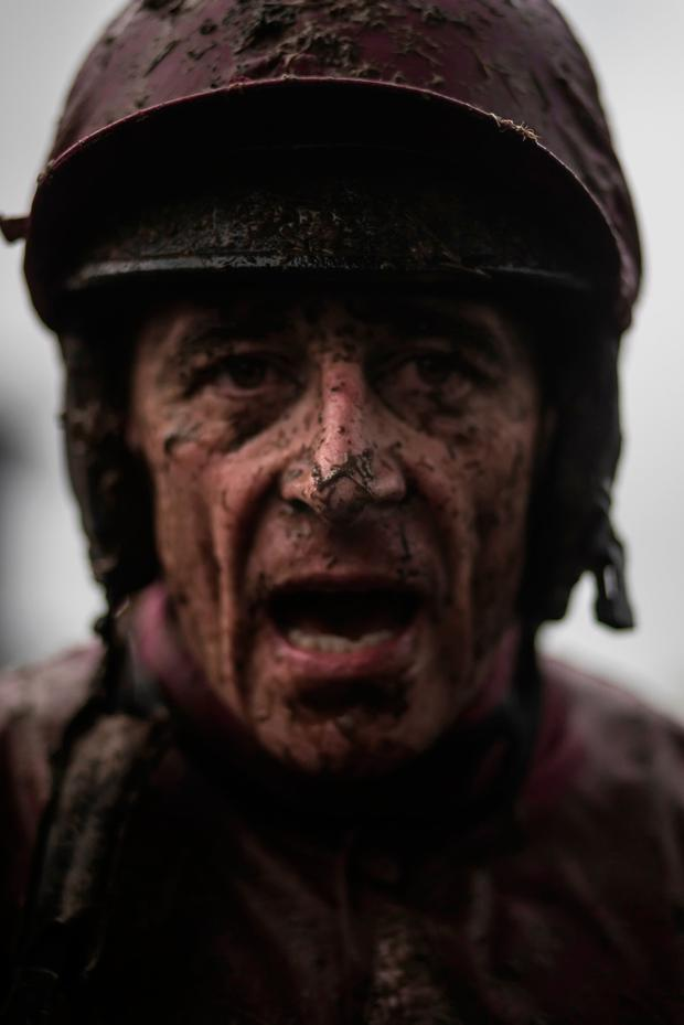 Davy Russell after partnering Dortmund Park to victory. Photo: Patrick McCann