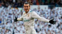 Bale took his tally to five goals in his last four matches to help Real. Photo: Reuters/Sergio Perez