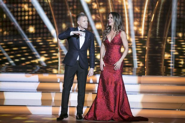 Nicky Byrne and Amanda Byram during the third show of RTE's Dancing with the Stars. kobpix/NO FEE for repro.