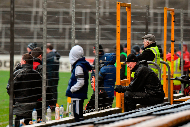 Brian Cody is forced to watch the game from the stands. Photo by Matt Browne/Sportsfile