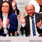 Pleased with result: SPD leader Martin Schulz. Photo: REUTERS/Thilo Schmuelgen