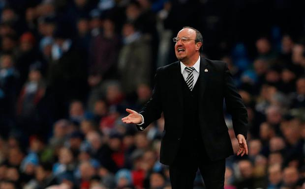 Newcastle manager Rafa Benitez effectively decided, as far as his team are concerned, they were unbeatable. Photo: Reuters/Lee Smith