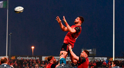 Jean Kleyn of Munster takes possession in a lineout Photo: Sportsfile