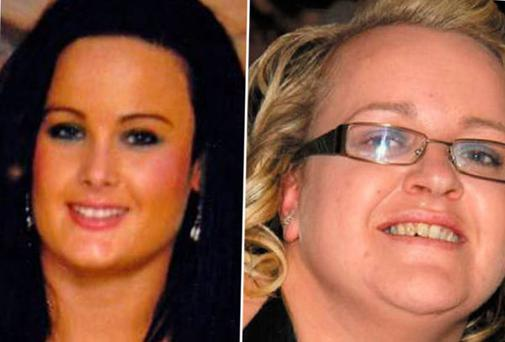 Mary Kehoe (30) died from cancer. Jane Conway (37) (inset) received a nine-month suspended sentence at Wexford District Court for harassing Derek Kehoe