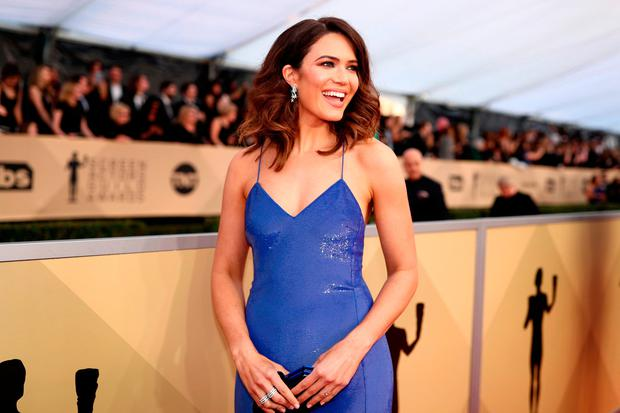 Mandy Moore attends the 24th Annual Screen Actors Guild Awards at The Shrine Auditorium on January 21, 2018 in Los Angeles, California. 27522_010 (Photo by Christopher Polk/Getty Images for Turner Image)