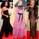 (L to R) Yara Shahidi, Kate Hudson, Nicole Kidman, Mandy Moore and Diane Guerrero at the 2018 SAG Awards