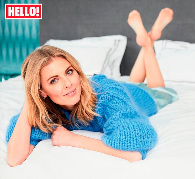 Donna Air who appears in this week's edition of the magazine. Picture: Hello! Magazine/PA Wire