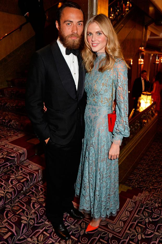 James Middleton (L) and Donna Air attend the inaugural Roll Out The Red Ball in aid of the British Heart Foundation at The Park Lane Hotel on February 10, 2015 in London, England. (Photo by David M. Benett/Getty Images)