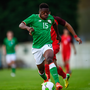 4 October 2017; Michael Obafemi of Republic of Ireland during the UEFA European U19 Championship Qualifier match between Republic of Ireland and Azerbaijan at Regional Sports Centre in Waterford. Photo by Seb Daly/Sportsfile
