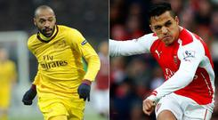 Thierry Henry and Alexis Sanchez