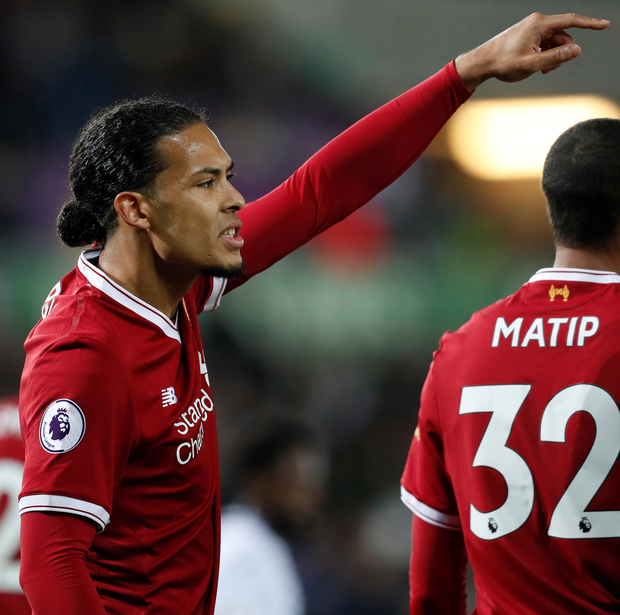 Liverpool's Virgil van Dijk. Photo: Reuters
