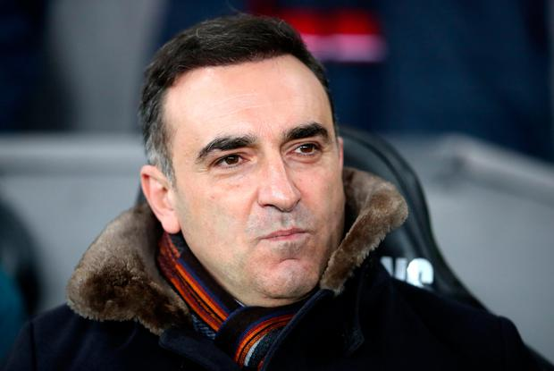 Swansea City manager Carlos Carvalhal. Photo: PA