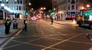 Undated handout photo from Alison Smith of the Strand after a gas leak forced the evacuation of 1,450 people from a nightclub and a hotel and closed Charing Cross station in central London. Alison Smith/PA wire