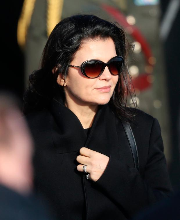 Ali Hewson following the funeral of The Cranberries singer Dolores O'Riordan Photo credit should read: Niall Carson/PA Wire
