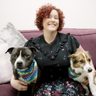Bekki Millar with Mia and Honey. Photo: Kevin Scott / Belfast Telegraph