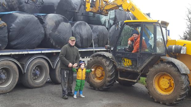 Fodder donated from Durrow, Co Laois to farmers in Co Clare struggling with fodder shortages.