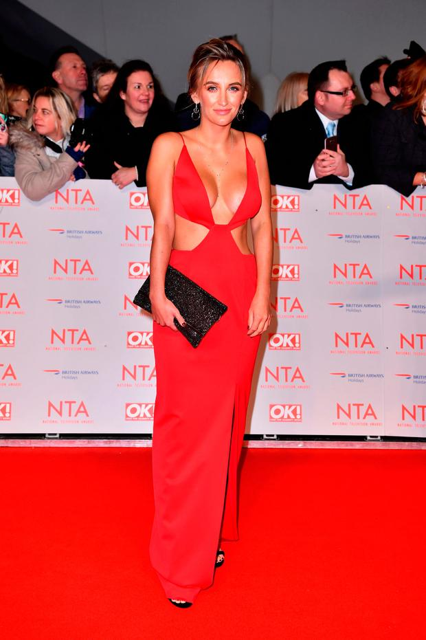 Tiffany Watson attending the National Television Awards 2018 held at the O2 Arena, London. Matt Crossick/PA Wire