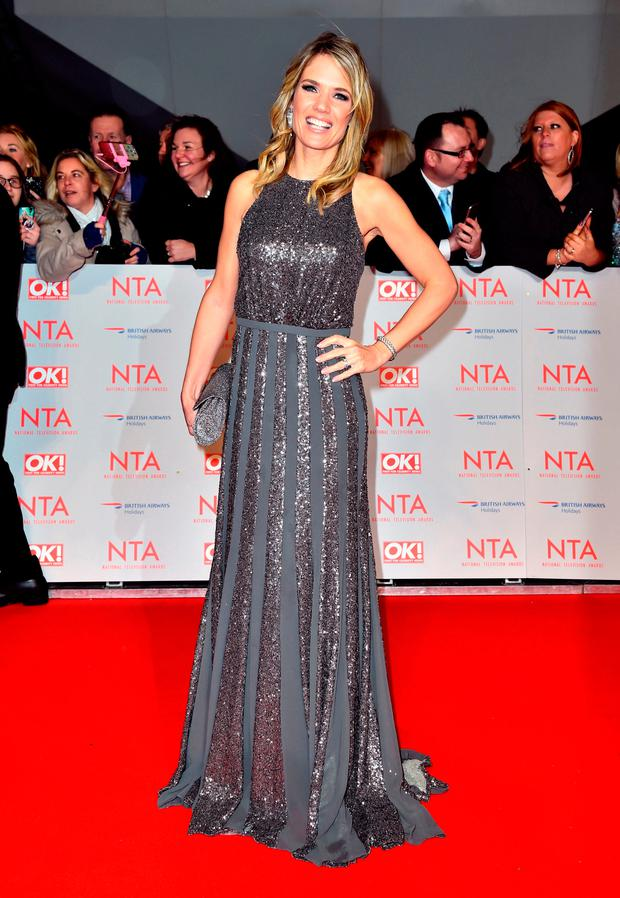 Charlotte Hawkins attending the National Television Awards 2018 held at the O2 Arena, London.Matt Crossick/PA Wire