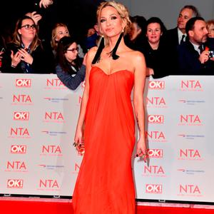 Sarah Harding attending the National Television Awards 2018 held at the O2 Arena, London. Matt Crossick/PA Wire