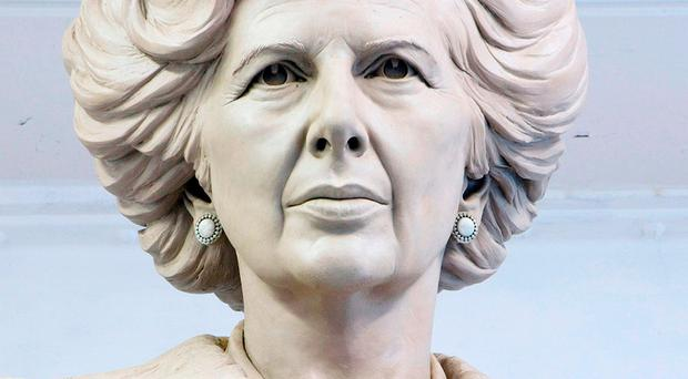 Undated handout file photo issued by Fine Architecture of sculptor Douglas Jennings' statue of Margaret Thatcher Douglas Jennings/PA Wire