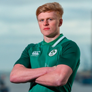 Tommy O'Brien in attendance during the Ireland U20 Rugby Press Conference at PwC Head Office in Spencer Dock, Dublin. Photo: Sportsfile