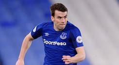 Ireland captain Seamus Coleman in full flight during Everton's U-23 match against Portsmouth at Goodison Park last night. Photo: Tony McArdle/Getty