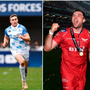 Jordan Larmour (left), Tadhg Beirne (centre) and Bundee Aki (right).