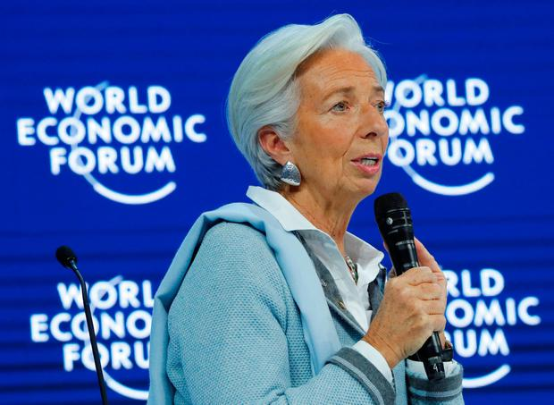 Christine Lagarde IMF Director attends the session