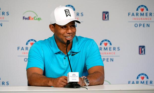 Tiger Woods addresses the media today