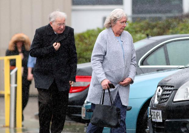 Barbara and Derek Brandon, parents of Dan Brandon, arrive at Basingstoke Coroners' Court in Hampshire, for the inquest into their son Dan Brandon's death, after he was found asphyxiated next to his pet python. Photo: Andrew Matthews/PA Wire