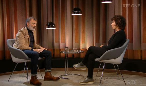 Tommy Tiernan with Ruby Wax on his RTE One Show