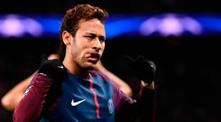 Paris Saint-Germain striker Neymar. Photo: Getty