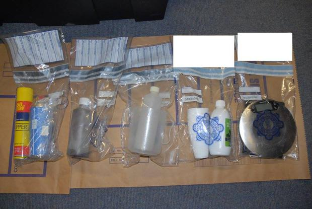 Some of the items and paraphernalia seized by gardaí Picture: Garda Press Office