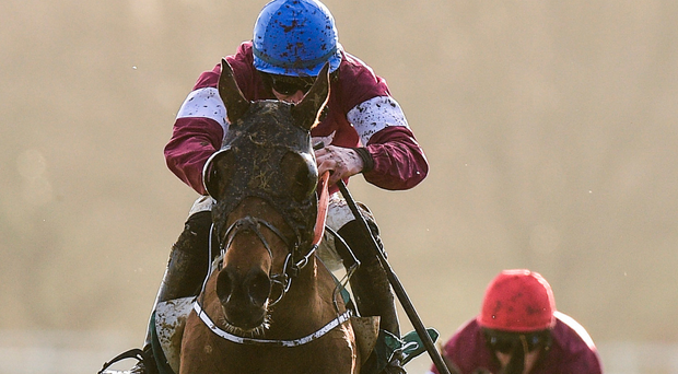 Monbeg Notorious and Jack Kennedy sail over the last on their way to landing the Thyestes. Photo: Sportsfile