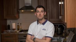 Physiotherapist Philip Tonge at his home in Sandyford, Dublin. Pic:Mark Condren