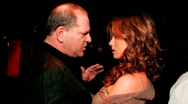 Harvey Weinstein and actress Kate Beckinsale. She has accused him of trying to lure her into his hotel room when she was a 17-year-old schoolgirl