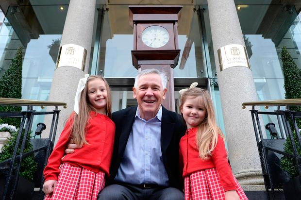 Joe Scally, owner of the hotel, with granddaughters Marieclaire, left, and Annabelle Van Vrede Photo: Sally MacMonagle