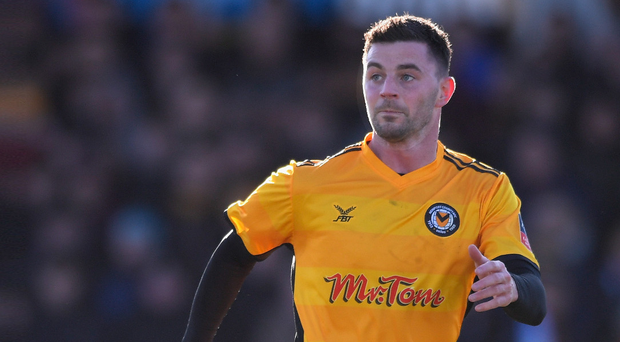 Padraig Amond and Newport County take centre stage this evening when they host Tottenham in the FA Cup. Photo: Getty Images