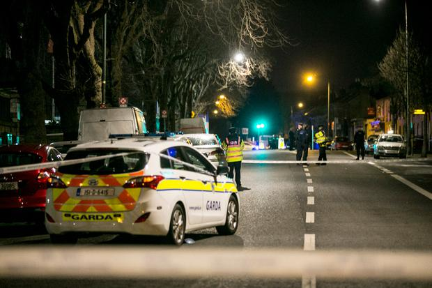 Scene of shooting on Dublin's South Circular Road. Photo; Kyran O'Brien