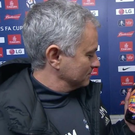 Jose Mourinho didn't seem keen to sample his bottle of cider
