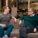 Tech titan: Mark Zuckerberg and Bill Gates