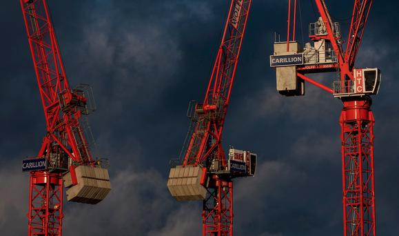 Burden: Giant UK construction and outsourcing company Carillion went into liquidation after running up debts of around £1.5bn. Photo: Getty