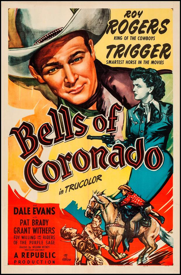 Happy trails: A poster for the Roy Rogers/ Dale Evans adventure of 1950 'Bells of Coronado'